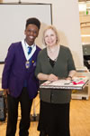 Lambeth Youth Mayor Samuel Davies and Lyn Gardner